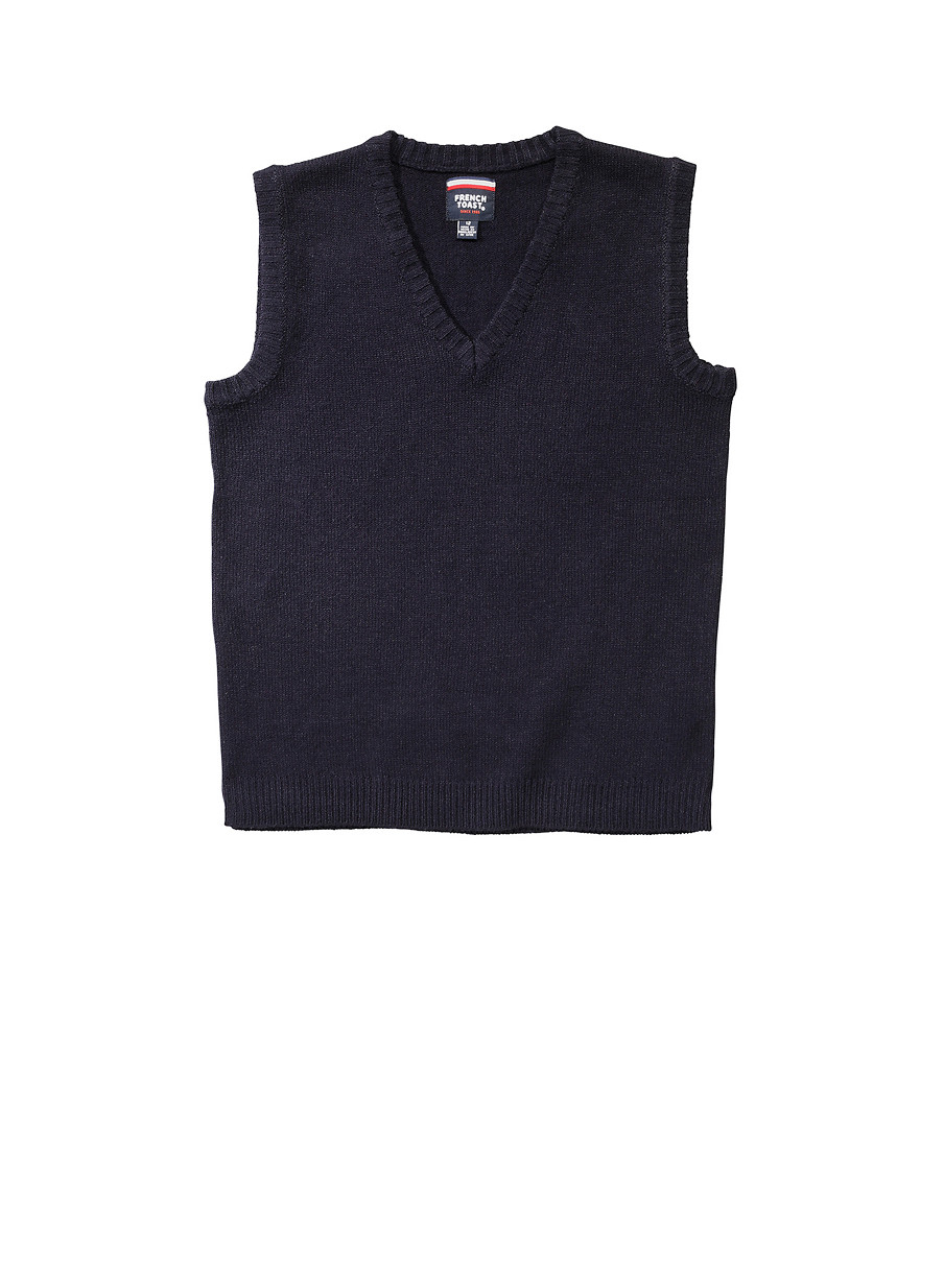 Boys 16-20 Navy Sweater Vest School Uniform - Rainbow