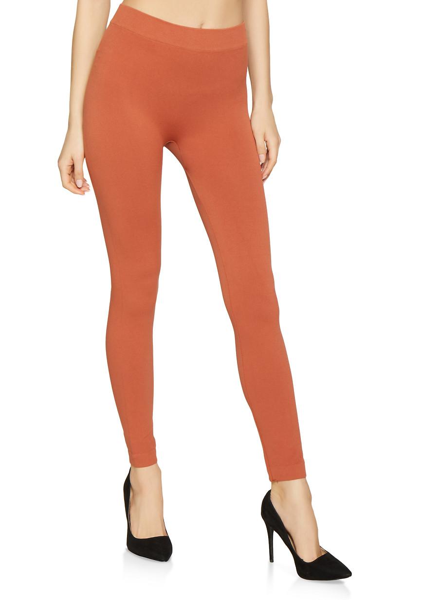 Solid Leggings - Orange - Size M
