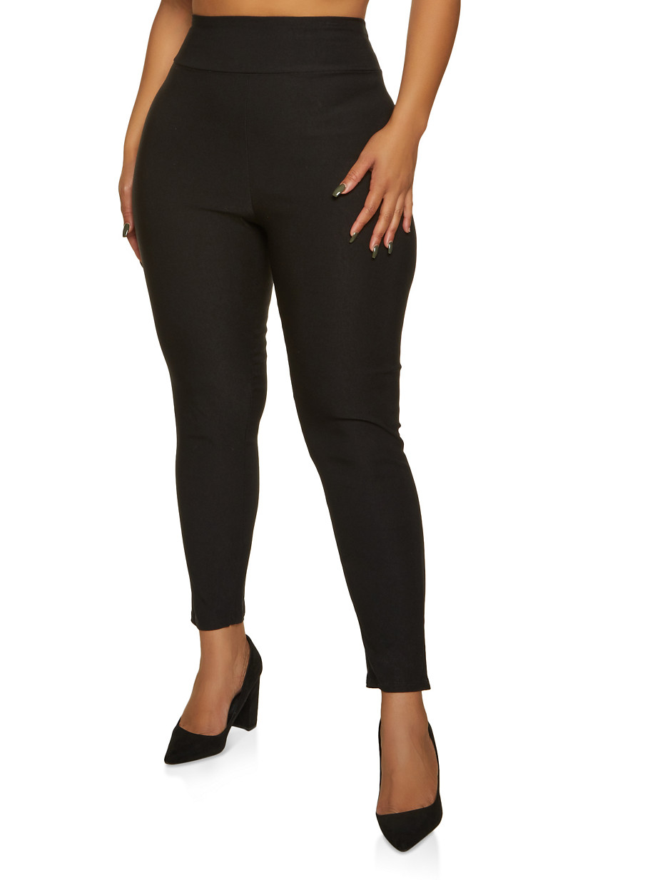 Plus Size Dress Pants - Black - Size 1X