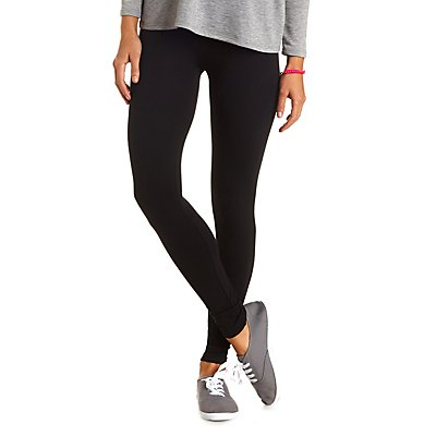 High-Waisted Cotton Leggings
