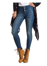 "Refuge ""Hi-Waist Super Skinny"" Medium Wash Jeans"