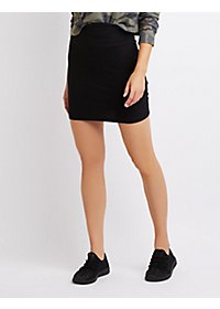 Body-Con High-Waisted Mini Skirt
