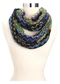 Sweater Knit Chevron Infinity Scarf