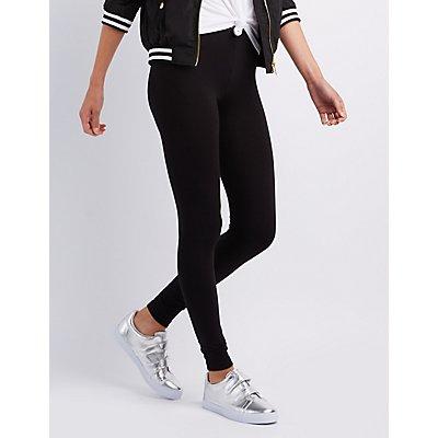 Stretch Cotton Leggings