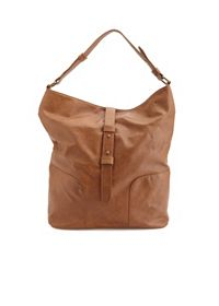Slouchy Faux Leather Tote