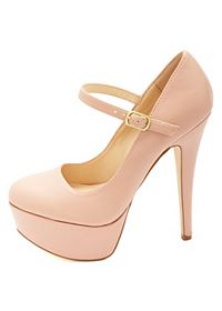 Anne Michelle Mary Jane Platform Pumps