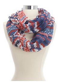 Abstract Tribal Print Infinity Scarf