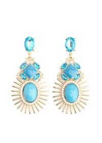 Sunburst Gem Drop Earrings
