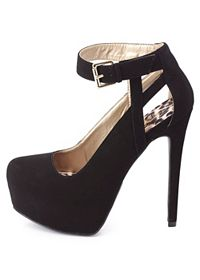 Cut-Out Ankle Strap Platform Pumps