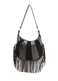 Two-Textured Fringe Hobo Bag