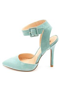 Pointed Toe Ankle Strap D'orsay Heels