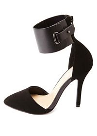 Ankle Cuff Pointed Toe D'Orsay Pumps