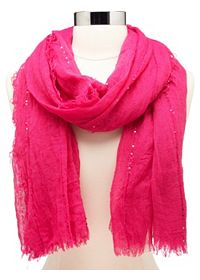 Lightweight Sequin-Embellished Scarf