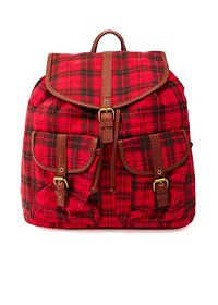 Plaid Canvas Backpack