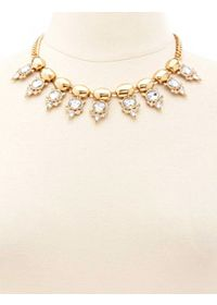 Rhinestone Spike Statement Collar Necklace
