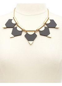 Geometric Lucite Statement Collar Necklace