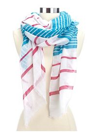 Lightweight Striped Scarf