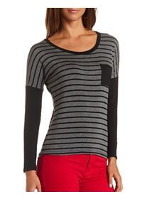 Color Block Striped Long Sleeve Top