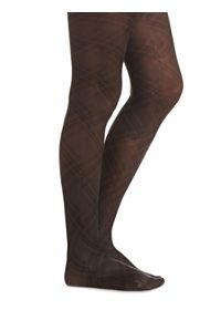 High Rise Plaid Tights
