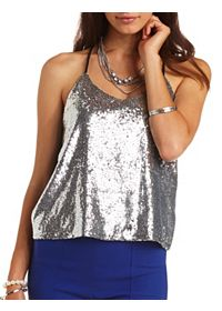 Sequin Racerback Swing Tank Top