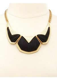 Matte Brushed Geometric Collar Necklace