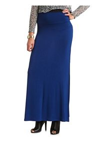 High-Waisted Double Slit Maxi Skirt