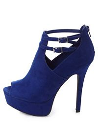 Ankle Strap Cut-Out Peep Toe Booties