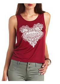 Rhinestone Paisley Graphic Swing Tank Top