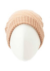 Diagonal Striped Slouchy Beanie