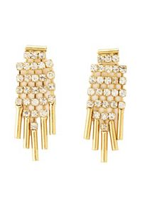 Dangling Rhinestone Fringe Earrings