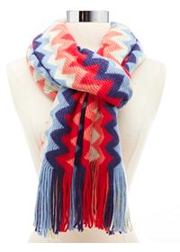 Sweater Knit Chevron Scarf