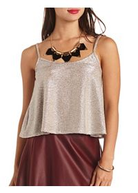 Textured Metallic Swing Tank Top