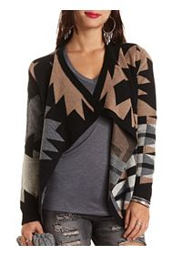 Geo Cascade Cardigan Sweater