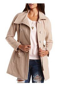 Double-Breasted Belted Pea Coat