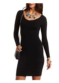 Long Sleeve Cut-Out Bodycon Dress