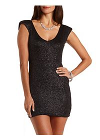 Sparkly V-Neck Bodycon Dress
