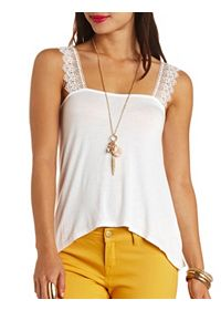 Crochet-Strap Knit Swing Top