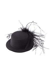 Feathered Mini Top Hat Fascinator