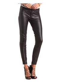 "Refuge ""Hi-Waist Super Skinny"" Faux Leather Jeans"