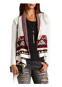 Aztec Cascade Cardigan Sweater