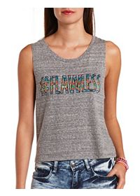 Rhinestone Flawless Graphic Muscle Tee