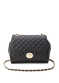Quilted Chain Strap Cross-Body Handbag