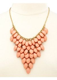 Clustered Faceted Bead Bib Necklace