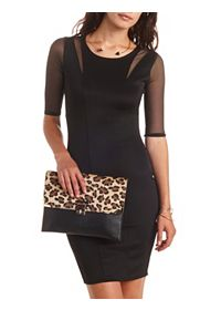 Mesh Cut-Out Bodycon Dress