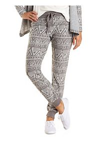 Tribal Print Jogger Sweatpants