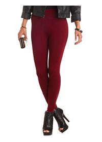Stacked Waist Ankle Zipper Skinny Pants