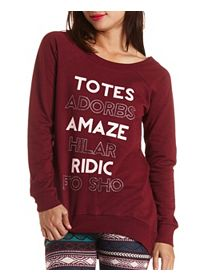 Totes Adorbs Graphic Tunic Sweatshirt