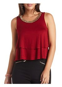 Embellished Layered Swing Tank Top