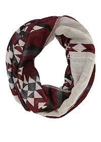 Woven Aztec Infinity Scarf