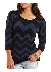 Variegated Chevron Tunic Sweater